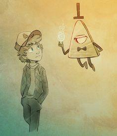 Bill stalking Dipper