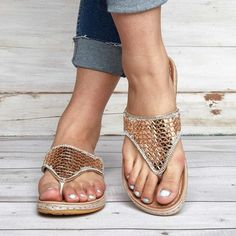 43038793ee4fb4 Plus Size Sequins Shiny Peep Toe Antiskid Slippers