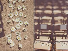 Love shots like this and I love the use of Daises instead of the typical rose pedals