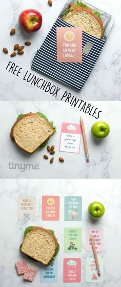 Free lunch box printables for back to school. Such a sweet idea to make kids smile