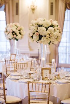 Glamorous ballroom wedding reception; photo: Brian Hatton