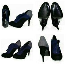 Nine West Heels Blue/Black/Grey- size 11 Nine West Heels Blue/Black/Grey- size 11 Nine West Shoes Heels