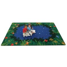 Peaceful Tropical Night Playroom Rug x - Carpets for Kids Carpets For Kids, Kids Rugs, Classroom Carpets, Nighttime Sky, Early Childhood Centre, Playroom Rug, Preschool Furniture, Classroom Furniture, Childrens Rugs