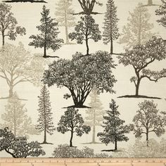 Richloom Treeline Toile Slub Graphite from @fabricdotcom  Screen printed on cotton slub duck (slub cloth has a linen appearance), this versatile medium weight fabric is perfect for window accents (draperies, valances, curtains and swags), accent pillows, bed skirts, duvet covers, slipcovers , upholstery and other home decor accents. Create handbags, tote bags, aprons and more. Colors include grey, black and ivory.