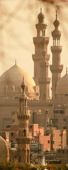 Old Cairo Trips Packages; Minarets of Sultan Hassan Mosque in Old Cairo, Egypt. Places Around The World, Oh The Places You'll Go, Travel Around The World, Places To Travel, Places To Visit, Around The Worlds, Wonderful Places, Beautiful Places, Amazing Places