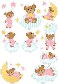 BEAR  EMBELLISHMENTS BY PAPER BLISS **  4 PIECES