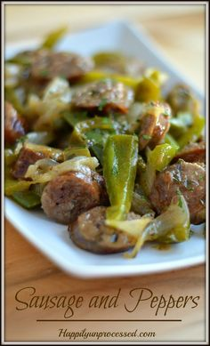 sausage and peppers