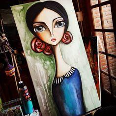 Me despido de la semana con esta obra... 60 x 1.20. . . ⭐ROMI LERDA - espacio de arte⭐ 473 bis n° 246 Loc. 2 City Bell . ✔Envíos a todo el país.  Consultas por mensaje privado o a rominaler@gmail.com #romilerdaespaciodearte #romilerdart #arte #mujeresdelmundo #om #mujeres #love #amoralarte #decoraxion #deco #home #mujeresdelzodiaco #colorterapia #namaste #woman #arte #buenosaires #argentina #españa #italia #méxico #colombia