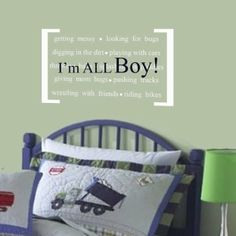 little cowboy quotes | Vinyl Wall Decal Perfect quote for little boys by missymoovinyl, $25 ...