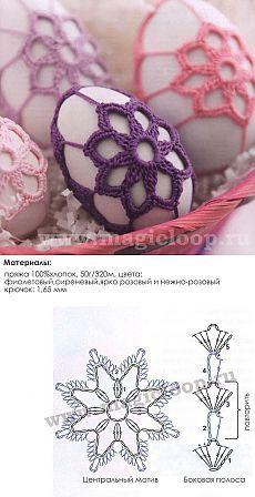 vajíčka Crochet Ball, Easter Crochet, Crochet Bunny, Thread Crochet, Crochet Motif, Crochet Doilies, Crochet Flowers, Quick Crochet, Free Crochet