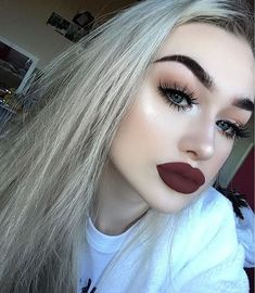 Flirty Luscious Dark Red Matte Lips