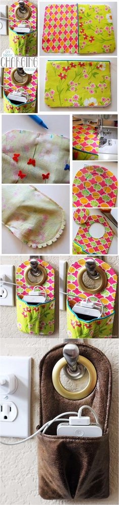 DIY Fabric Phone Charging Station | DIY Crafts Tips