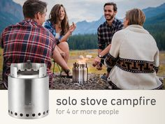 The Solo Stove Campfire is a compact wood burning camp stove. Great for camping and survival, this wood gas stove is built to last. Click to learn more.