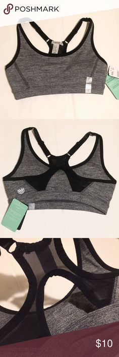 NWT Forever 21 High Impact Bra Brand new with tags charcoal gray and black sports bra with mesh crossback and adjustable straps. Has removable padding. Last picture shows model from website. Tag says: For moisture management - wicking fabric helps keep you dry and cool. // DEAL: Purchase with the F21 active leggings I have listed for $21 total! Forever 21 Intimates & Sleepwear Bras
