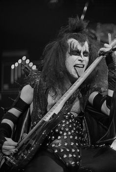 Gene Simmons of KISS, 1975.                                                                                                                                                      More