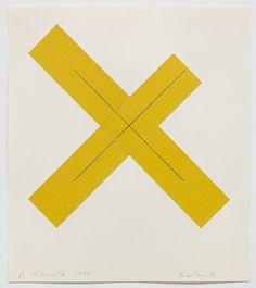 Design Within Reach - amalgammaray:   Robert Mangold, X Within X, 1980