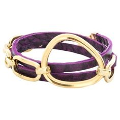 Check out this item at One Kings Lane! Link Wrap Bracelet, Purple