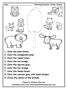 Coloring animals worksheets farm animal pages for grade 2 preschool pixels activities listening skills forest b arctic template worksheet Drawing Activities, Animal Activities, Preschool Activities, Therapy Activities, Preschool Printables, Alphabet Activities, Animal Crafts, Free Printables, Animal Worksheets