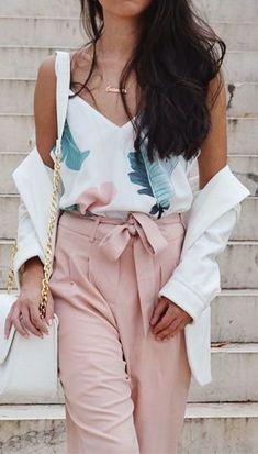 Spring style Self Tie Waist Wide Leg Pants #pants #springstyle #ad