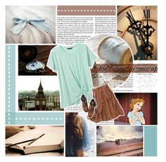 """""""Grow up? Who would want to do that? I don't /// Wendy Darling /// Modern"""" by fangirl-forever-1 ❤ liked on Polyvore featuring Disney, Banana Republic, Madewell, Topshop, modern and WendyDarling"""