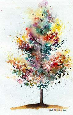 Just a tree in a life of colors or a tree with the colors of life ...