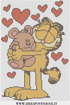 Garfield pooky point de croix crosstich