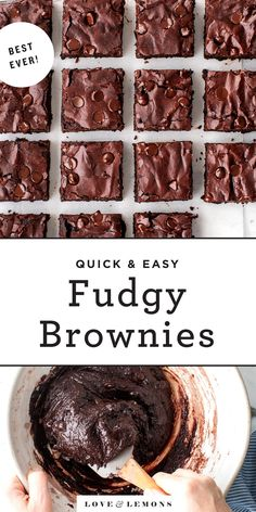 Best Homemade Brownies Recipe - Love and Lemons Beste Brownies, Fudgy Brownies, Baking Brownies, Nutella Brownies, Cheesecake Brownies, Köstliche Desserts, Delicious Desserts, Dessert Recipes, Dessert Food
