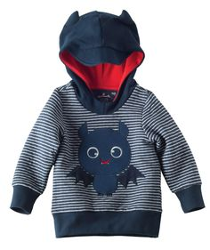The Hallmark artists had a blast with this little hoodie pullover for Halloween! Sweet little bat ear details and an adorably cute bat applique design - exclusively from Hallmark Baby for baby & toddlers