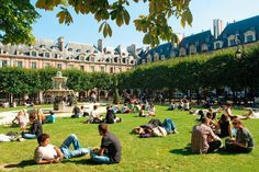 Place des Vosges, built by Henri IV this square park is surrounded by an arcade with shops and cafes. Sit outside Ma Bourgone, on of the oldest cafes in Paris and watch the crowd walk by.