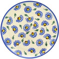 Polish Pottery 10-inch Plate   Boleslawiec Stoneware   Polmedia H9529F