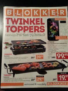 Brochure van de Blokker. Veel foto's en tekst. Wel duidelijke prijzen.