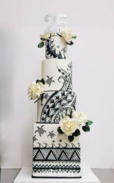 Award-winning cake designer Rick Reichart and his wife Sasha own cakelava, a Las Vegas. Amazing Wedding Cakes, Unique Wedding Cakes, Wedding Cake Designs, Amazing Cakes, Amazing Art, Awesome, Black White Cakes, Black And White Wedding Cake, White Wedding Cakes