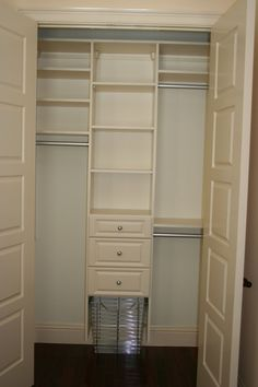 Reach In Closet Design Ideas interesting walk in closet Small Closet Idea Closet Ideas Pinterest Closet Organization Wire Shelving And Shared Closet