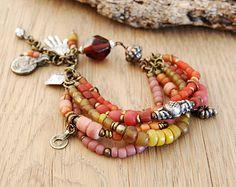 Hamsa bohemian bracelet - boho jewelry - ethnic bracelet - hand of fatima jewelry