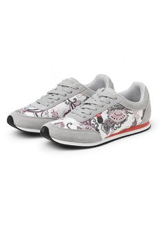 Odd Molly Sneakers 617M-698 Running Free City Trainers - light chalk