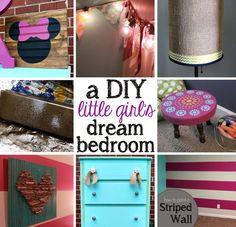 DIY little girl's bedroom - elegant decor