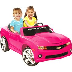 Kid Motorz Chevrolet Camaro 12-Volt Battery-Powered Ride-On, Pink- Birthday Ideas