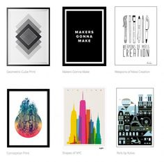 Classy posters a great design gift for the architect who has everything. Not sure which one to get? Architects typically love anything black, white, or charcoal – but if you know the rare architect who boasts a colorful wardrobe, you'll probably be fine picking something with a nice color theme.
