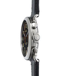 47mm Runwell Chronograph Men's Watch, Black/Black
