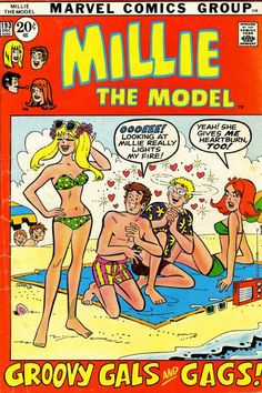 A cover gallery for the comic book Millie the Model Archie Comics Characters, Comic Book Characters, Vintage Comic Books, Vintage Comics, Vintage Ads, Old Comics, Marvel Comics, Marvel Art, Millie The Model