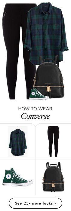 Giovanna by fanny483 on Polyvore featuring Madewell, Michael Kors, Converse, womens clothing, women, female, woman, misses and juniors #michaelkors #michaelkorsecuador  #michaelkorsbolso #michaelkorsbolsa #michaelkorsreloj