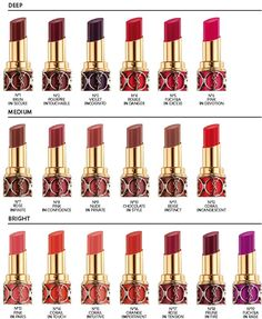 YSL rouge volupte for 2013... Can't stop craving for at least half of these:)))
