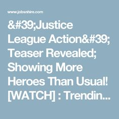 """Additional lines of DC heroes have been shown in the intro of the most-awaited """"Justice League Action."""" With its finished retro effect and newly added heroes in the scene, seems that DC is now fully ready to launch the animated series in December Finding Dory, Justice League, Teaser, Action, Entertainment, Game, Watch, News, Film"""