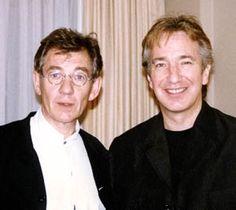 Alan Rickman and Ian McKellan. Omg WHY do they look like old Harry and Ron???? *_* #PDsFavourites #Alan #Ian