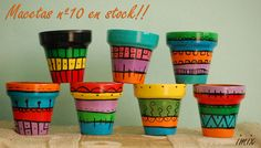 Idea Of Making Plant Pots At Home // Flower Pots From Cement Marbles // Home Decoration Ideas – Top Soop Flower Pot Art, Flower Pot Design, Cactus Flower, Painted Plant Pots, Painted Flower Pots, Clay Pot Crafts, Diy Clay, Mosaic Pots, Clay Pots