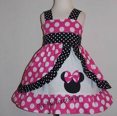 Minnie Med Pink   peekaboo Jumper Dress