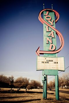 "Joyland Amusement Park sign - ""Closed for the season"""