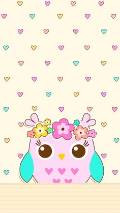 Cute Backgrounds, Cute Wallpapers, Wallpaper Backgrounds, Phone Backgrounds, Iphone Wallpapers, Cute Owls Wallpaper, Pastel Wallpaper, Walpaper Iphone, Paper Owls