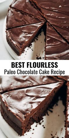 Flourless chocolate cake recipe Paleo and dairy free fudgey chocolate cake with a thick layer of chocolate frosting This easy chocolate cake will win hearts over and make. Flourless Chocolate Cakes, Chocolate Desserts, Chocolate Frosting, Cake Chocolate, Flourless Desserts, Belgian Chocolate, Chocolate Lovers, Baking Chocolate, Chocolate Coffee