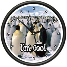 Find amazing PENGUIN Wall Clock emperor penguins animal decor gift penguin gifts for your penguin lover. Great for any occasion! Happy Penguin, Penguin Animals, Aquatic Birds, Animal Decor, Emperor Penguins, Table Covers, Bath And Body Works, The Ordinary, Toilet